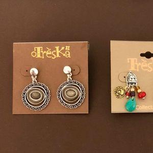 3 Pairs of Treska Earrings